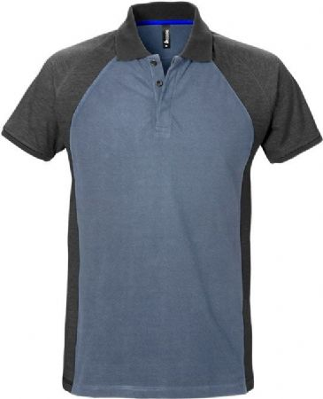 Fristads Acode Polo Shirt 7650 PIQ (Blue/Grey)